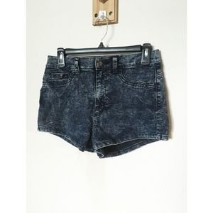 Forever 21 Dark Acid High Waisted Denim Shorts